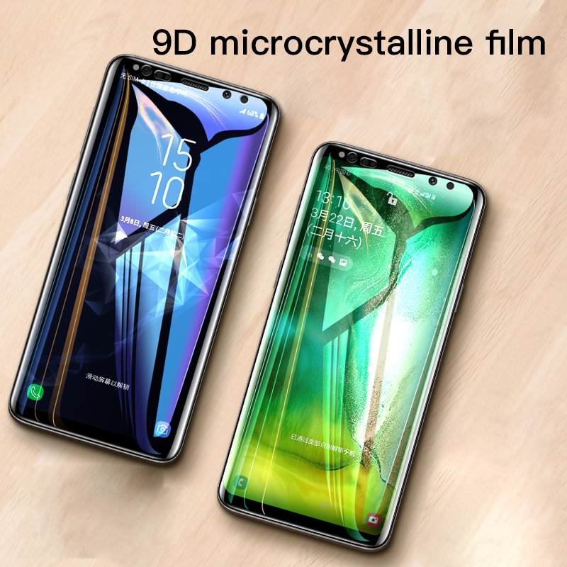 9D Full Cover Soft Film For Samsung Galaxy Note 9 8 S9 S8 S10 e 5G Plus S7 Edge Screen Protector For Samsung A7 A8 A9 Not Glass in Phone Screen Protectors from Cellphones Telecommunications