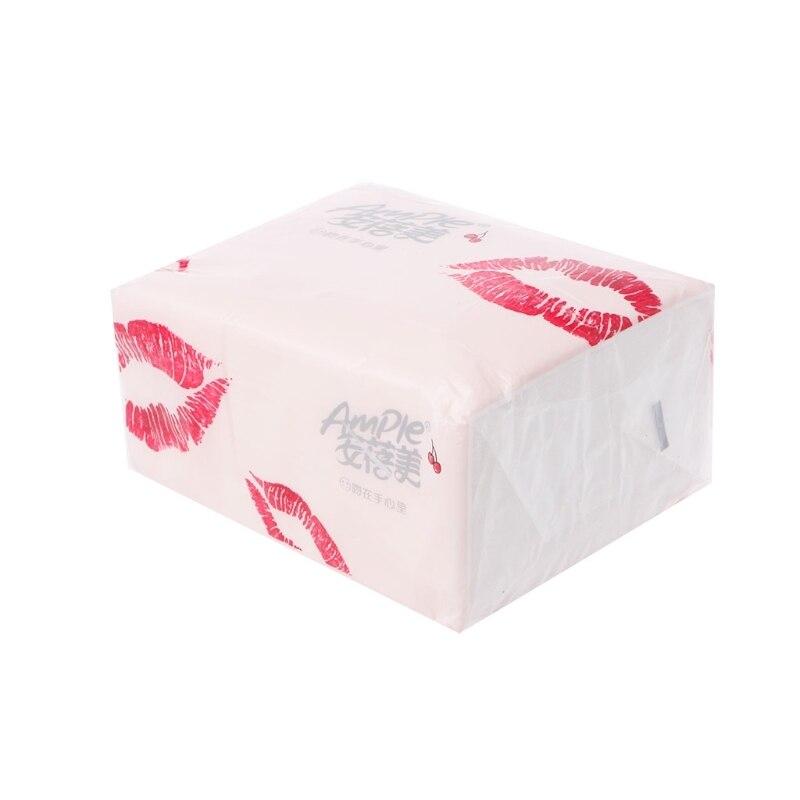 100 Sheets Wood Pulp 3 Layers Tissue Pumping Paper Environmental Car Home Use Dec21 -B118