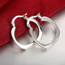 promotion wholesale 925 Sterling Silver Fashion Jewelry Earrings For Women silver square earrings gifts