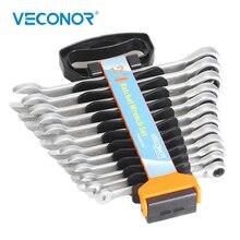 Jeu de clés à criquet, outils manuels multifonctionnels à tête fixe, 8 19mm, support en plastique, à couple élevé