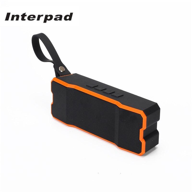 Interpad Outdoor Portable Bluetooth Speakers IPX6 Waterproof Subwoofer Loudspeaker 4500mAh Soundbar Support Card Hands-free