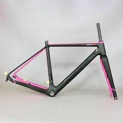 Żwir 700C węgla rama rowerowa  SERAPH rowery przez oś 142mm żwiru Di2 węgla Cyclocross rama z widelcem 100*12mm