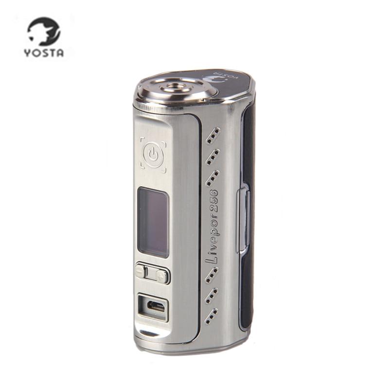 Cigarette électronique Vaporisateur D'origine Yosta Livepor 256 256 w Boîte Mod soutien VW MECH TC-Ni TC-Ti TC-SS PTC mode pk rx200s