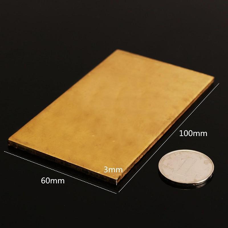 1pc Mayitr Brass Metal Thin Sheet Plate 60x100x3mm For Welding Metalworking Craft DIY Tool