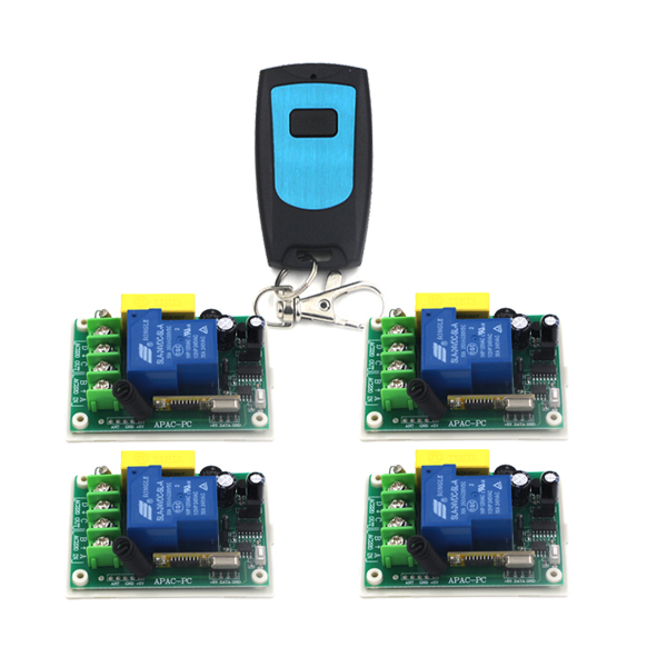 Remote Control Switches AC 220V 30A Relay Receiver Waterproof Transmitter 4pcs Wireless Switch 315/433 Learning Code SKU: 5314 remote control switches dc 12v 2ch receiver long range remote control transmitter 50 1000m 315 433 rx tx 2ch relay learning code