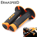 """7/8"""" 22mm Motorcycle Hand Grips Handle Rubber Bar Gel Grip Orange Modified Accessory for KTM Duke 125 200 390 690 990 EXC SMC"""
