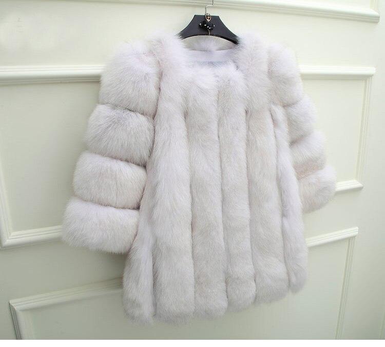 Mantel 6xl Fuchspelz 100Echt Dunkelgrau Frauen 7xl Hohe Jacke Benutzerdefinierte Kragen Wei Gro Plus Natur 4rmel Jacken Gre en 3 WEHYe92ID