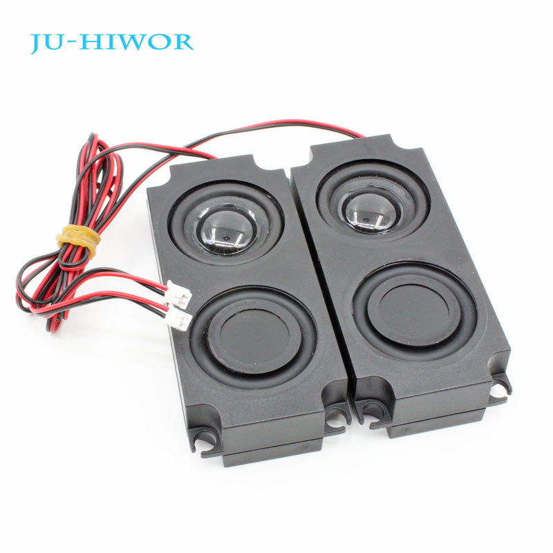 2pcs 4R 3W Multimedia Loudspeaker For Advertising Machine Double Diaphragm With Wire Embedded Box R Speaker 45*100*21MM