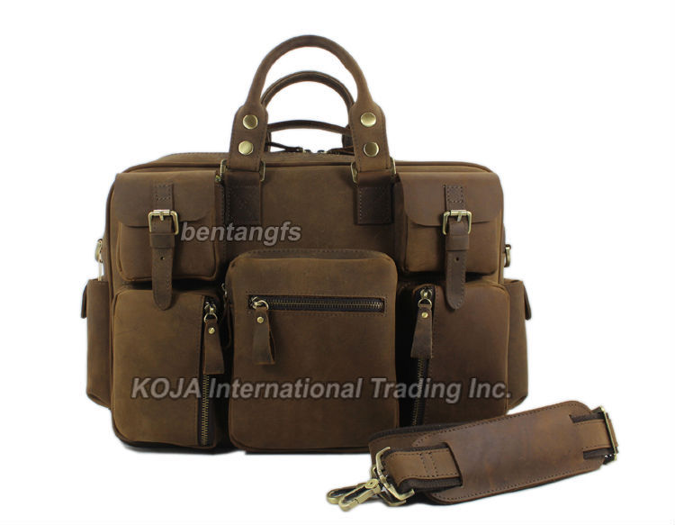 8897f63a0ed Vintage Crazy Horse Leather men s travel bags of trip Men Leather duffle  bag men luggage travel bag Genuine Leather Bag Carry On