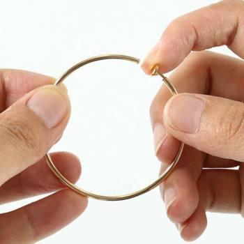 Hot Diameter 4cm/5cm/6cm Ear Clips Rings Punk Women Non-Pierced Hoop Earrings Spring Goth Fake Clip-On Circle Earrings