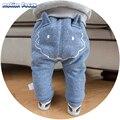 Inverno Bonito Padrão Dos Desenhos Animados Do Bebê Calças Meninos Harem Pants calças de Lã Quente Engrossar Roupas de Algodão Longas Calças Casuais Calças Soltas