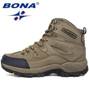 Image 5 - بونا جديد وصول الرجال حذاء للسير مسافات طويلة المضادة للانزلاق في الهواء الطلق أحذية رياضية المشي الرحلات تسلق أحذية رياضية Zapatillas أحذية مريحة