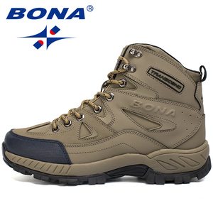 Image 5 - BONA החדש הגעה גברים נעלי הליכה אנטי להחליק חיצוני ספורט נעלי הליכה טרקים טיפוס סניקרס Zapatillas מגפיים נוחים