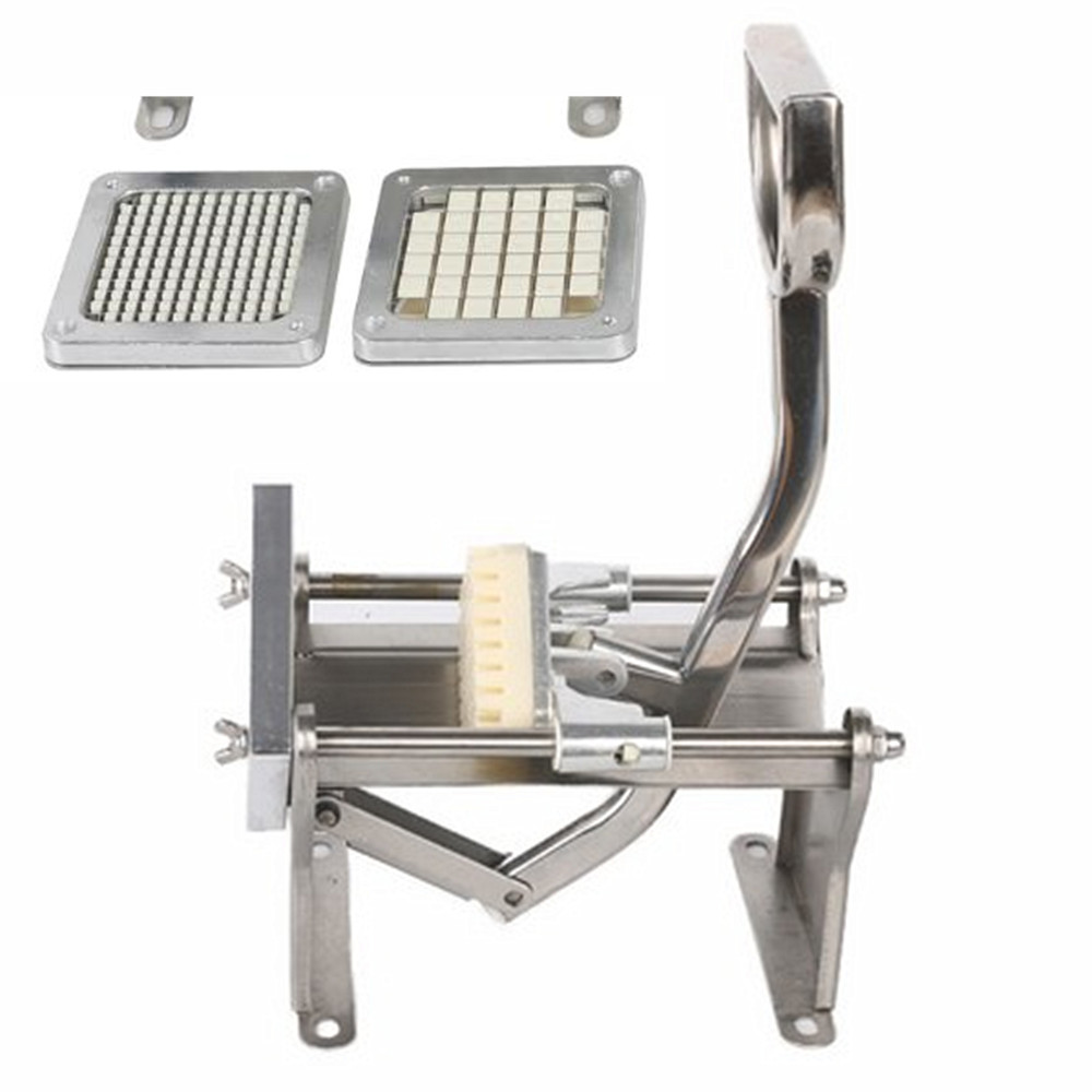 Vertical Manual Cut French Fries Machine Potato Cutter 6mm/9mm/13mm Blades Stainless Steel Fruit Vegetable Cutting Machine Tool vegetable diced cutting strip cut grain machine cucumber potato cutting machine manual radish cutting machine