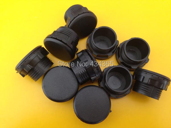 100pcs plastic  hole plug  22mm mouning hole panel plugs cap  push button switch hole  panel plug Black colour