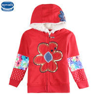 2015 New Design Cotton Red Nova Brand Winter Coat Flower Beautiful Warm And Good Quality For