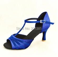 Wholesale Ladies Girls  Blue Glitter  Ballroom Latin Samba Salsa Ceroc Tango Dance Shoes All Size