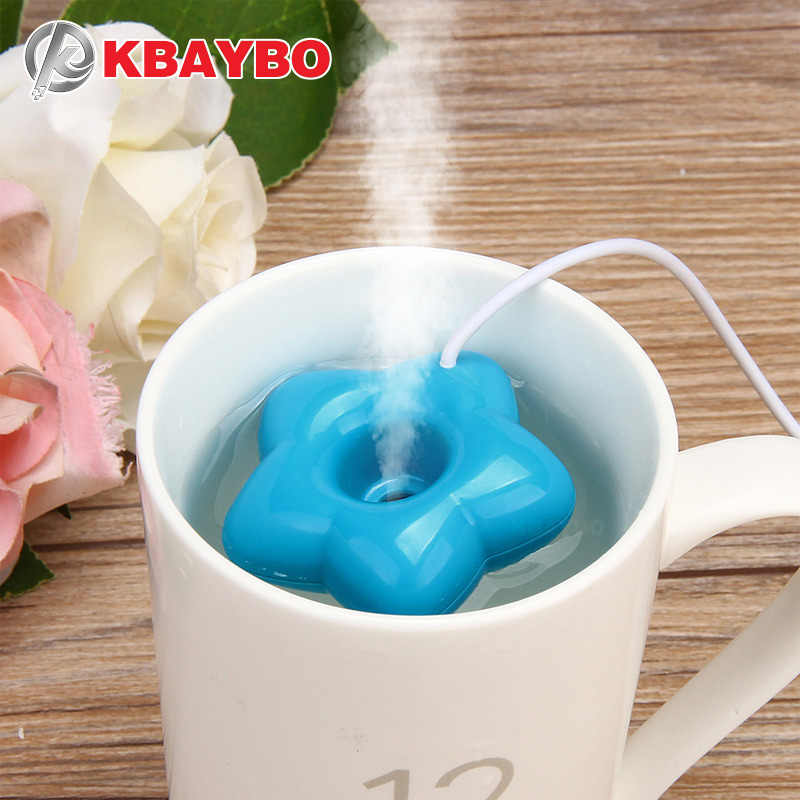 KBAYBO Neue Mode Mini USB Donut Luftbefeuchter Luftreiniger Aroma Diffusor Maker Dampf Tragbare Office Home