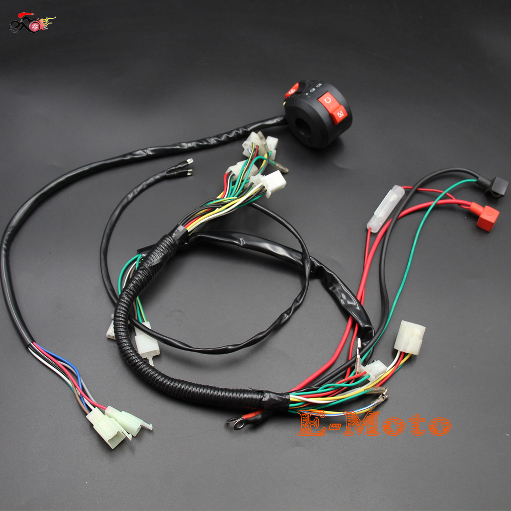 Full Electrics Wiring Harness Switch 50cc 70cc 90cc 110cc 125cc Go Kart Atv Quad Bike Buggy New E Moto In Motorbike Ingition From Automobiles
