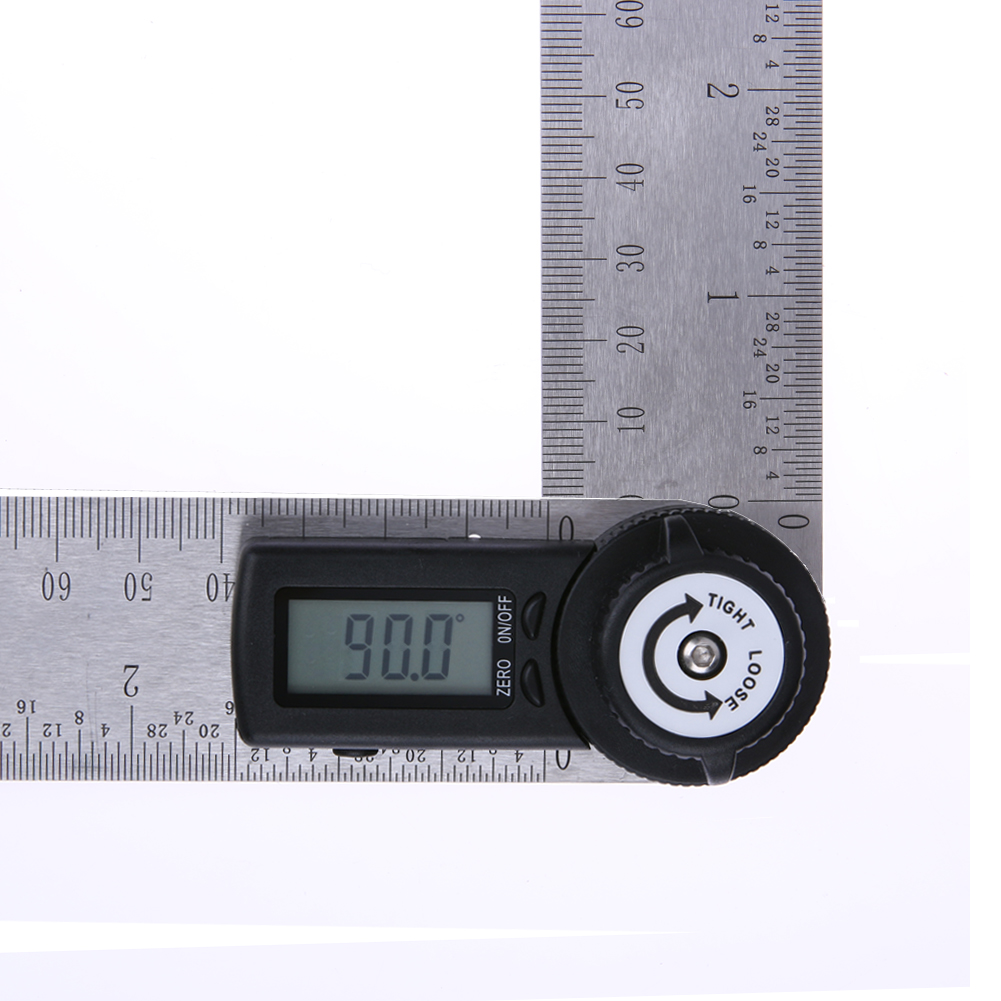 2 in 1 360 Degree 280cm Digital Angle Ruler Protractor Goniometer School Teaching Facilities Electronic Angle Measuring Ruler