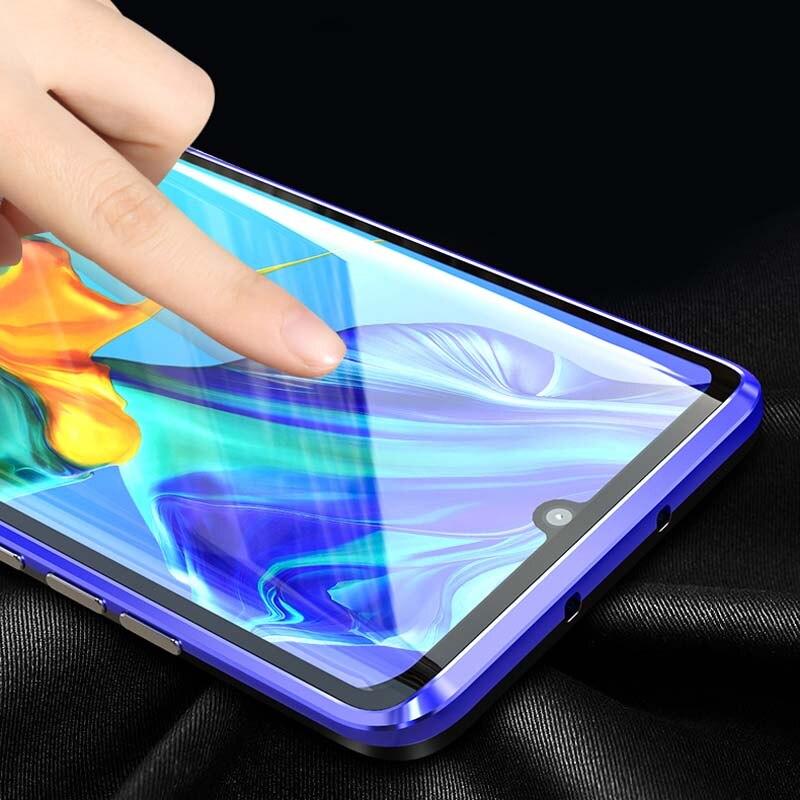 Ijverig Luxe Magnetische Case 360 Voor + Back Dubbelzijdig 9 H Gehard Glas Screen Metal Bumper Cover Voor Huawei P30 P30pro Case Ks0118 Crazy Prijs