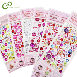 Decorative Diamond Crystal Stone Stickers Sheet Creative Kids DIY Art Crafts Materials Toys for Children Best Christmas Gift GYH