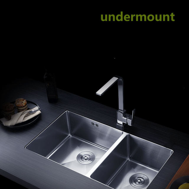 Online Shop Handmade kitchen sink Stainless steel brushed double ...