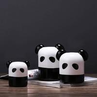 Chinese Style Panda Home Decor Simple Modern Ceramic Animal Figurine Ornament TV Cabinet Miniature Decoration Manualidades Craft
