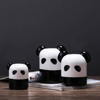 Chinese Style Panda Home Decor Simple Modern Ceramic Animal Figurine Ornament TV Cabinet Miniature Decoration Manualidades Craft