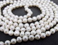 "new woman 7-8mm White Freshwater Shell Pearl Necklace 45""xu92"