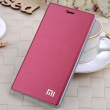 7 colors 2015 Original brand For xiaomi mi 4 Case Flip leather cover Bags for xiaomi mi4 m4 case Stand Card holder Free Shipping