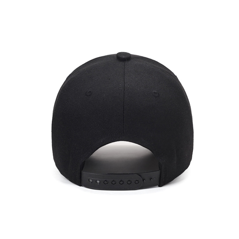 Rear View of Embroidered Male Symbol Baseball Cap - Black