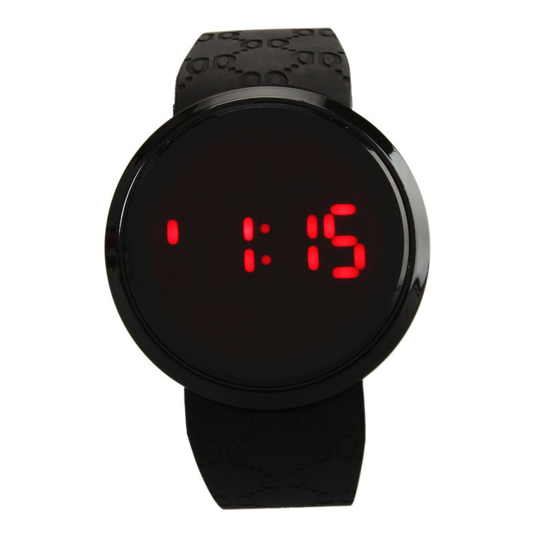 New Explosion Touch Screen LED Electronic Watch Creative Silicone Casual Men and Women Students Led Watch Chronograph