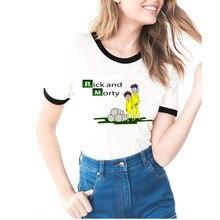 Футболка Рик и Морти, модная летняя футболка с рукавом-кольцом для женщин/девочек, забавная футболка Рик, женская одежда, футболки с коротким рукавом