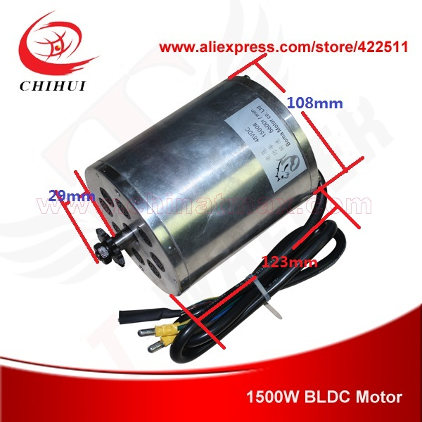 Buy 1500w 48v Brushless Electric Dc Motor
