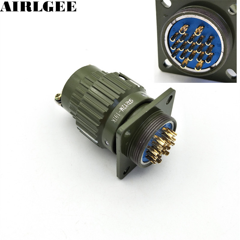 Military y m tk aviation connector gold plated pin