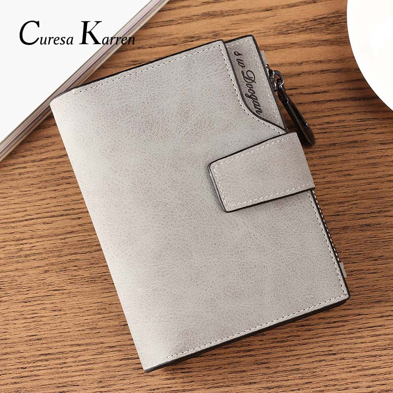 New Ladies Short Wallet Female Zipper Wallet Multi-function Fashion Simple Fresh Large Capacity Cowhide Material Purse