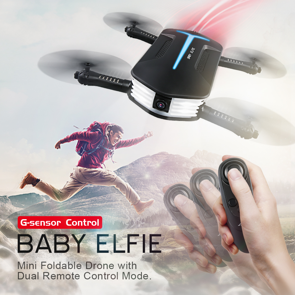 Mini Foldable Pocket Selfie Drone RC Helicopter Toys with 720P HD Camera G-sensor Wifi FPV Dual Remote Control Mode Quadrocopter купить недорого в Москве
