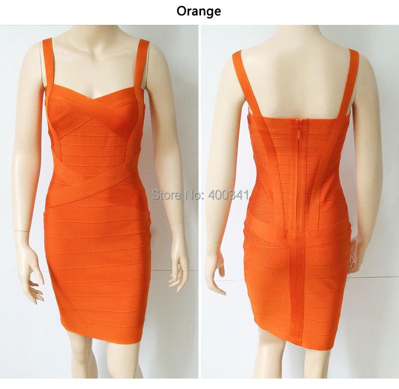 17 New Women Sexy Spaghetti Strap Rayon HL Elastic Celebrity Bandage Dress Bodycon Mini Club Party Dresses Drop Ship HL8675 23