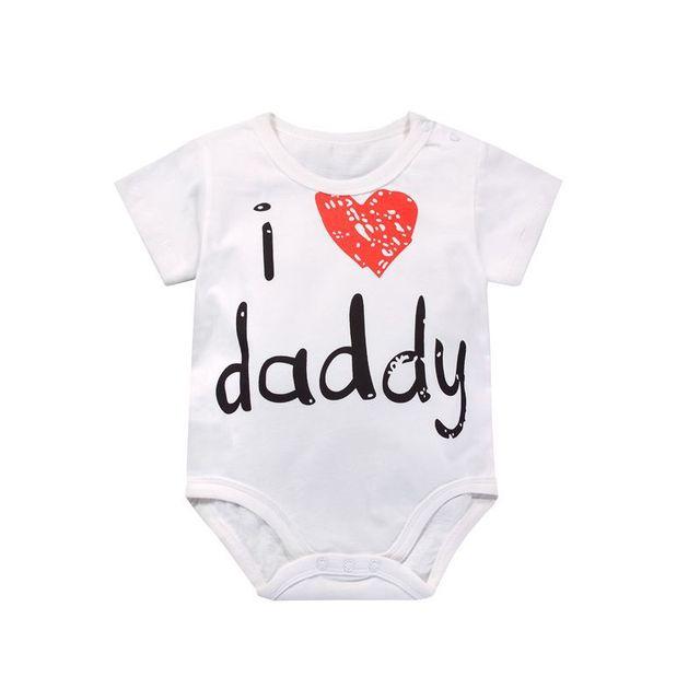 2018 Summer Newborn Baby Romper Cotton Boy Girl Clothing I Love