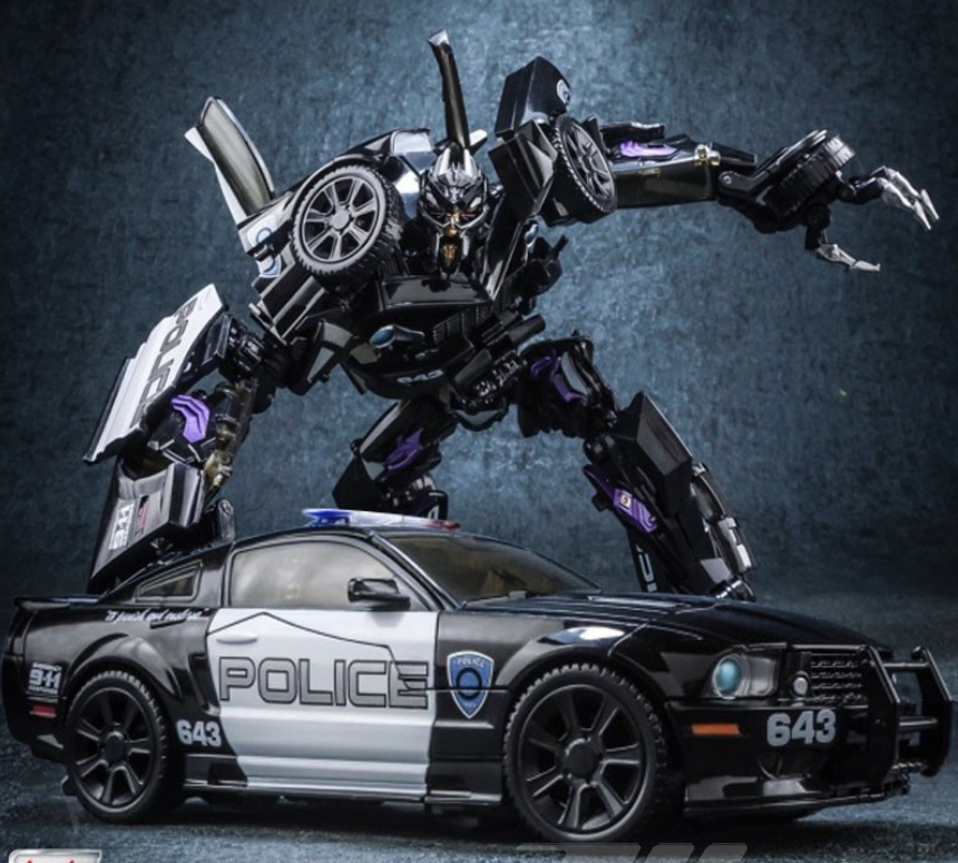 Black mamba LS02 masterpiece MPM05 Police Barricade MP Alloy Metal Collection Transformation KO Figure Robot Toys