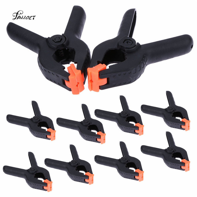 10 PCS 3 inch DIY Tools Plastic Nylon Toggle Clamps for Woodworking Spring Clip Photo Studio Grampo Clamp Tool
