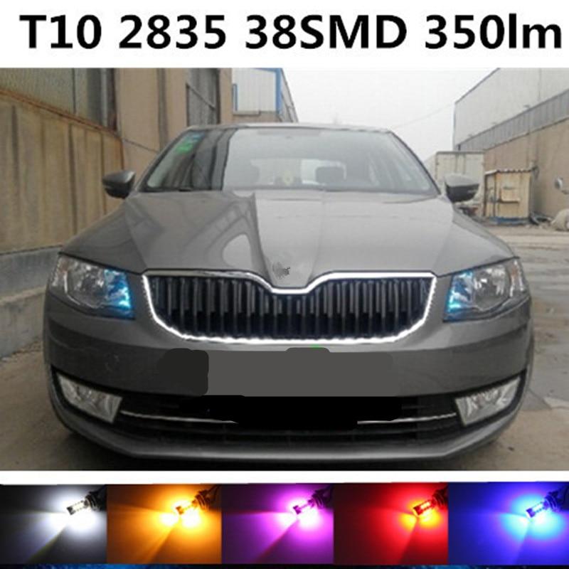 Tcart 1pcs led For skoda octavia A5 A7/fabia/rapid/superb/rs 1 2/VRS/Car t10 w5w LED bulb Headlights Marker lamps Warning Lights