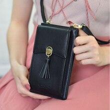 TOKOHANSUN evrensel rahat çanta çok katmanlı cep telefonu kılıfı cüzdan kart cep telefonu omuz askısı cüzdan Huawei için iPhone için