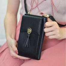 TOKOHANSUN uniwersalna torba na co dzień wielowarstwowe etui na telefon portfel na karty telefon komórkowy na ramię portmonetka na pasku dla iPhone dla Huawei