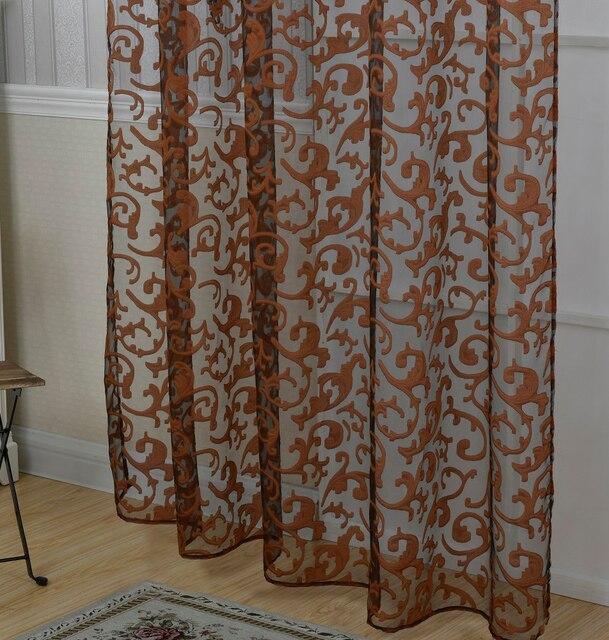 2017 Curtains White Purple Beige Khaki Brown Tulle Curtains For Living Room  Tulle Curtains For Bedroom Kitchen Free Shipping