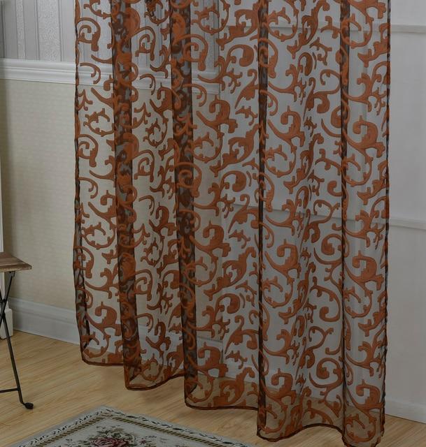 US $7.39 21% OFF|Vorhänge weiß lila beige khaki braun Tüll Vorhänge para  Wohnzimmer tüll vorhänge para Schlafzimmer Küche kostenloser versand in ...