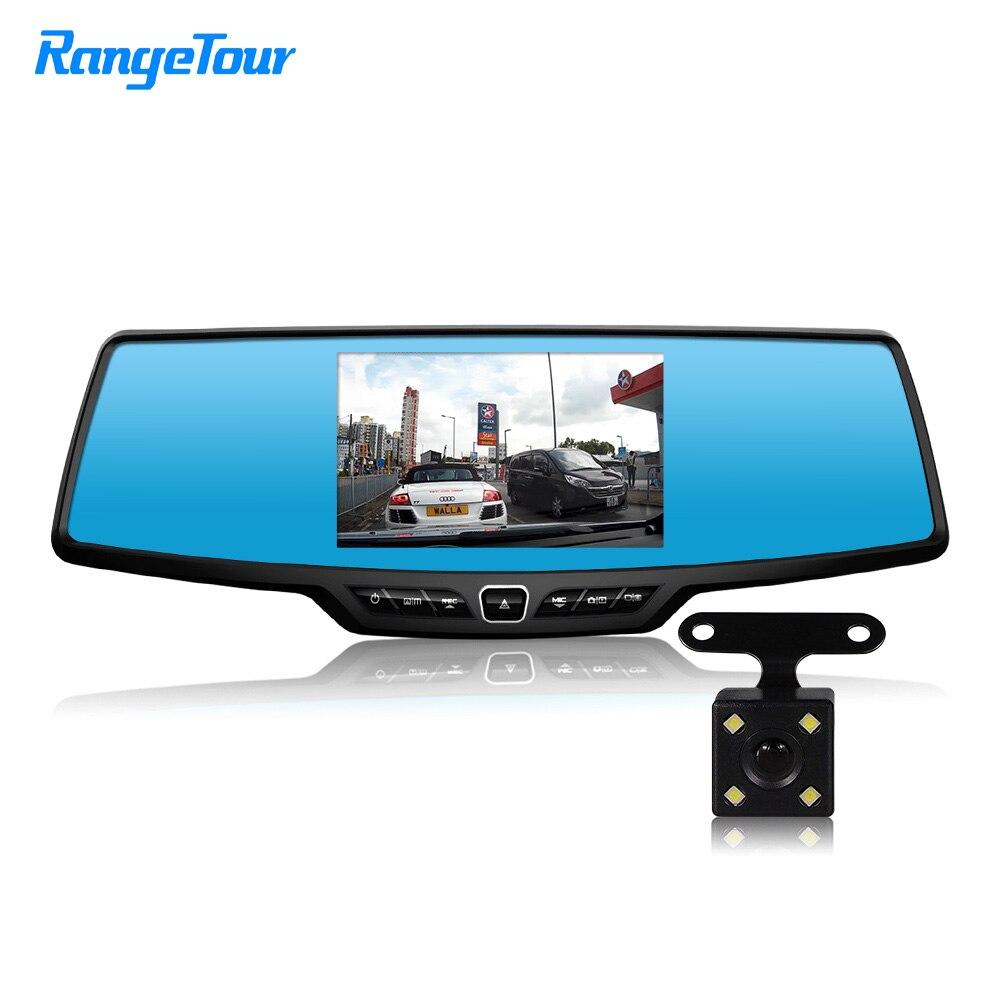 Range Tour Car Mirror DVR Dash Camera C30 Dual Lens Full HD 1080P Dash Cam 170 Degree Dashboard 4.3