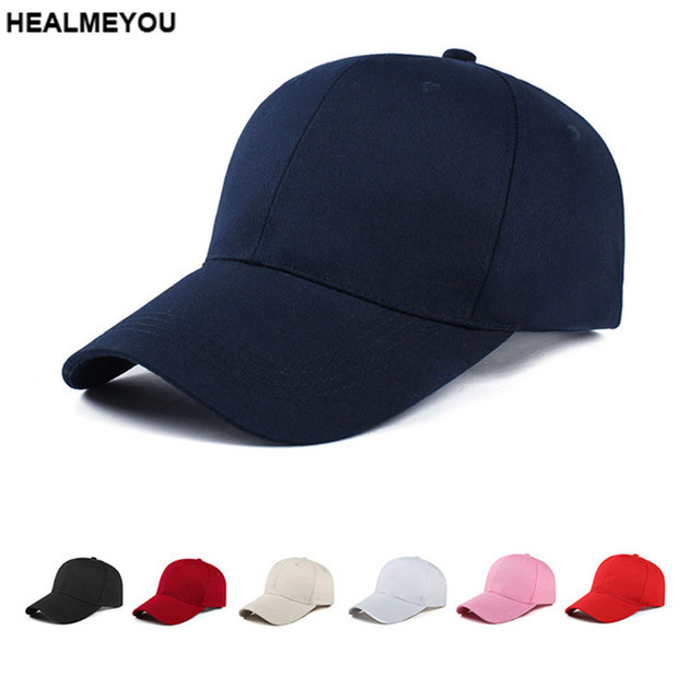 Unisex Men Women Blank Baseball Cap Plain Bboy Snapback Hats Hip-Hop  Adjustable f5f6f51c3e5b