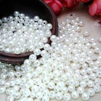 4mm 20mm diameter 1KG DIY white pearl beads for garments and handmade decorative accessories